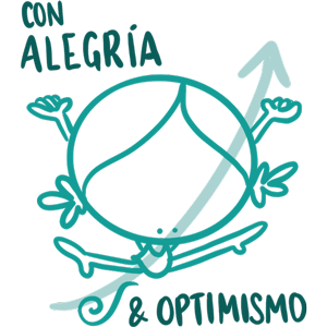 Con alegría y optimizmo