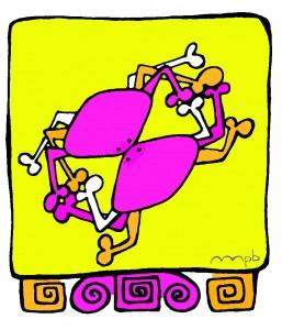 """Ilustración """"Armiarmak (abrazo-arañado)"""" by mpb"""