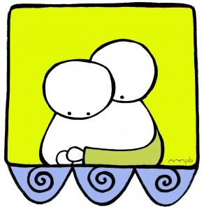 """Ilustración """"Shhhh! (goxo)"""" by mpb"""
