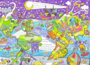 """Ilustración """"defender la alegría"""" by mpb"""