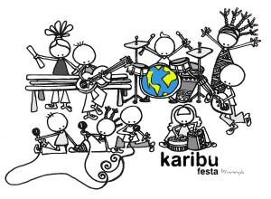 """Ilustración """"Karibu festa"""", by muxote potolo bat"""