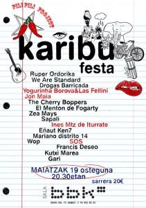 Karibu festa flyer, by muxote potolo bat