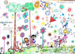 La selva de los muxus - Dibujo colectivo de Ricardo (8), Sara (6), Telmo (2) y la izeba (...)