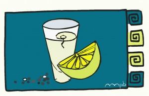 """Ilustración """"Un trío (tequila, limón y sal)"""" by mpb"""