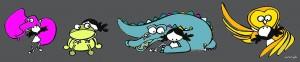 """Ilustración """"Salvajes-Slow Hug Movement"""" by mpb"""