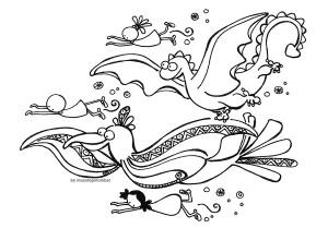 """Ilustración """"a por los abrazos"""" by mpb"""
