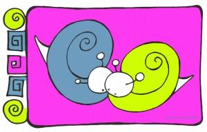 """Ilustración """"Enrolladoss"""" by mpb"""