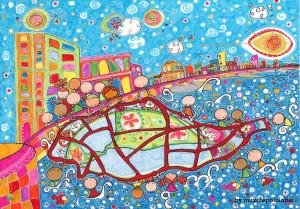 """Ilustración """"Pescando futuro desde el malecón de La Habana"""" by mpb"""