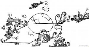 """Ilustración """"El mundo de Miry (y ampliando...)"""" by mpb"""