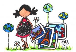 "Ilustración ""Around the world"" by mpb"