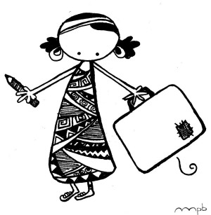 "Ilustración ""miry afro"" by mpb"