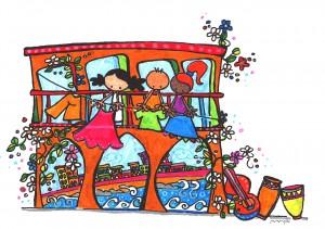 """Ilustración """"tendedero de colores"""" by mpb"""
