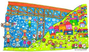 """Ilustración """"el puente (koloretan)"""" by mpb"""