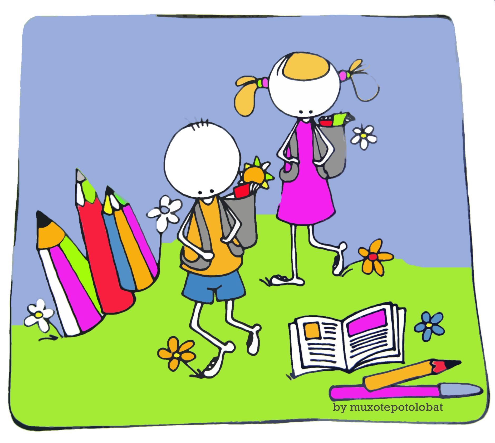 """Ilustración """"vuelta al cole"""" by mpb"""