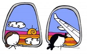 """Ilustración """"bon voyage"""" by mpb"""