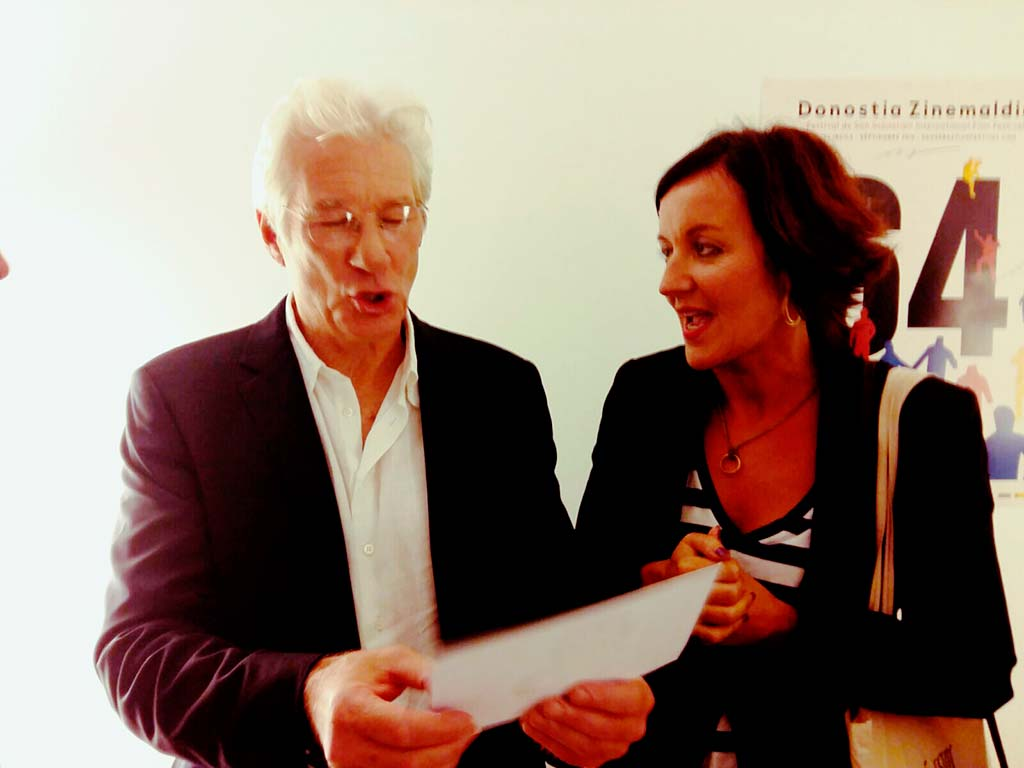 Miryam Artola con Richard Gere