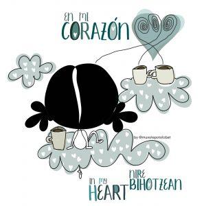 """Ilustración """"en mi corazón"""""""