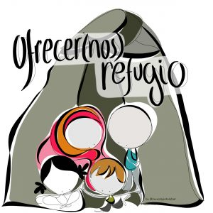 refugee, Ofrecer(nos) refugio by Muxote Potolo Bat